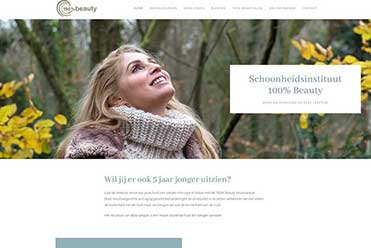 100% Beauty Schoonheidsinstituut website